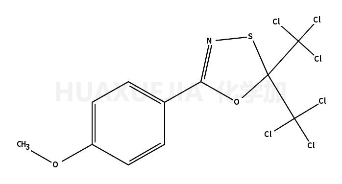 2,2-bis(trichloromethyl)-5-(p-methoxyphenyl)-1,3,4-oxathiazole