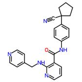 3-Pyridinecarboxamide, N-[4-(1-cyanocyclopentyl)phenyl]-2-[(4-pyridinylmethyl)amino]-
