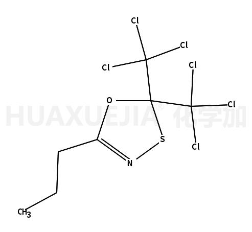 2,2-bis(trichloromethyl)-5-propyl-1,3,4-oxathiazole
