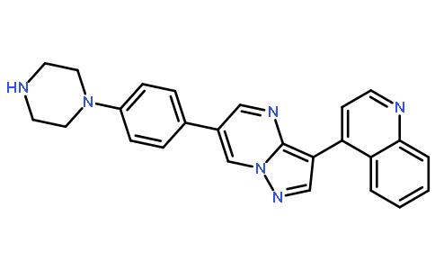 4-[6-(4-(哌嗪-1-基)苯基]吡唑并[1,5-A]嘧啶-3-基)喹啉