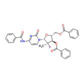 (2'R)-N-苯甲酰基-2'-脱氧-2'-氟-2'-甲基胞苷 3',5'-二苯甲酸酯