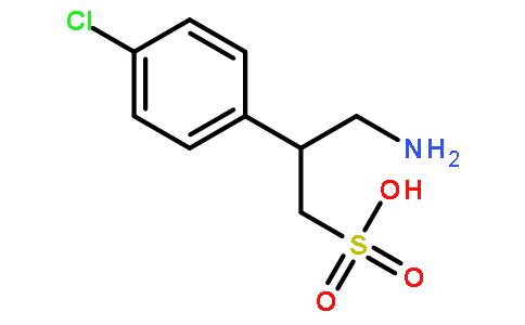 3-氨基-2-(4-氯苯基-丙烷磺酸