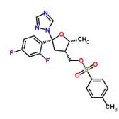 (5R-cis)-甲苯-4-磺酸 5-(2,4-二氟苯基)-5-(1H-1,2,4-三氮唑-1-基)甲基四氢呋喃-3-基甲基酯