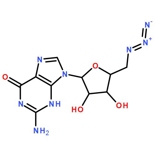 2-amino-9-[5-(azidomethyl)-3,4-dihydroxyoxolan-2-yl]-3H-purin-6-one