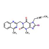 8-Bromo-7-(2-butyn-1-yl)-3,7-dihydro-3-methyl-1-[(4-methyl-2-quinazolinyl)methyl]-1H-purine-2,6-dione