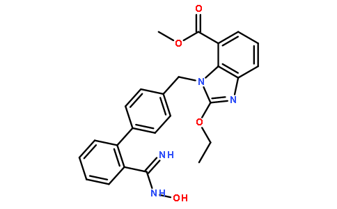 2-Ethoxy-1-[[2'-[(hydroxyamino)iminomethyl][1,1'-biphenyl]-4-yl]methyl]-1H-benzimidazole-7-carboxylic acid methyl ester