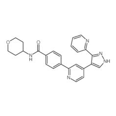 4-[4-[3-(吡啶-2-基)-1H-吡唑-4-基]吡啶-2-基]-N-(四氢吡喃-4-基)苯甲酰胺