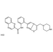 N-[2-[3-(1-哌嗪甲基)咪唑并[2,1-b]噻唑-6-基]苯基]-2-喹噁啉e羧酰胺