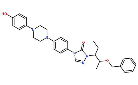 2-[(1S,2S)-1-Ethyl-2-benzyloxypropyl]-2,4-dihydro-4-[4-[4-(4-hydroxyphenyl)-1-piperazinyl]phenyl]-3H-1,2,4-triazol-3-one
