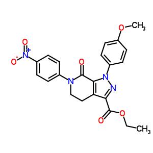 4,5,6,7-四氢-1-(4-甲氧基苯基)-6-(4-硝基苯基)-7-氧代-1H-吡唑并[3,4-c]吡啶-3-羧酸乙酯
