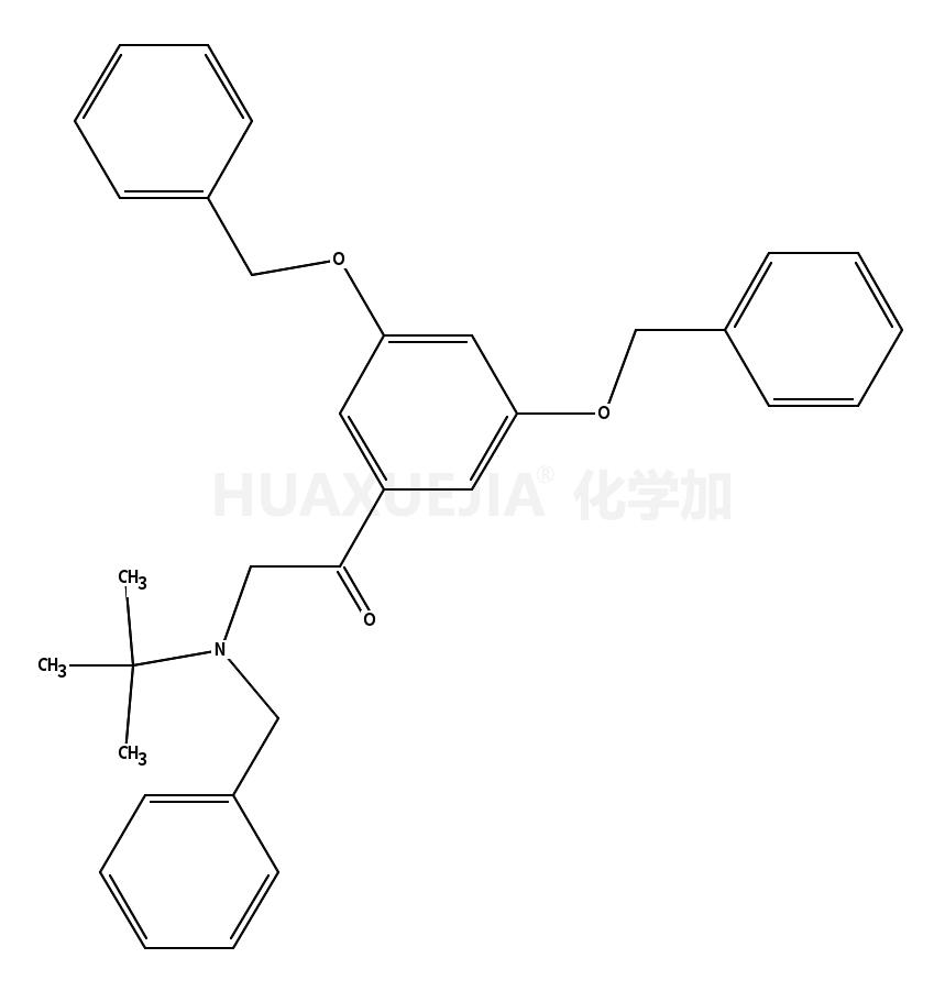 3',5'-dibenzyloxy-ω-(benzyl-t-butylamino)-acetophenone