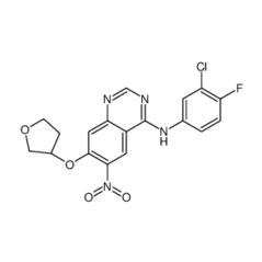 N-(3-氯-4-氟苯基)-6-硝基-7-[[(3S)-四氢-3-呋喃基]氧基]-4-喹唑啉胺
