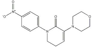 5,6-二氢-3-(4-吗啉基)-1-(4-硝基苯基)-2(1H)-吡啶酮